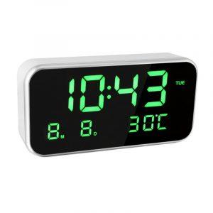 Big Screen LED Digital Multi-function Music Alarm Clock with Temperature Date And Week Desktop Digital Bedside Mirror Clock