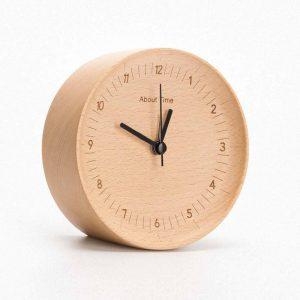 Om Time Mute Logs Original träklocka Kvalitet Trendig bordsklocka med metallpekare från xiaomi youpin