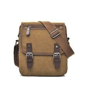 Canvas Casual Business Vattentät En-axelväska Crossbody Bag för män