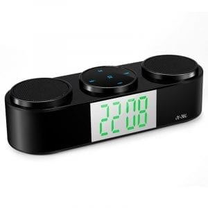 Bärbar Bluetooth trådlös FM-stereohögtalare för SmartPhone Tablet Clock