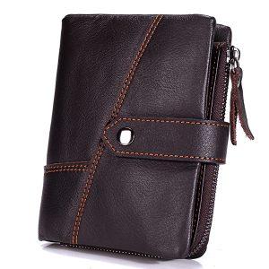 13 korthållare äkta läder casual hasp myntväska plånbok för män