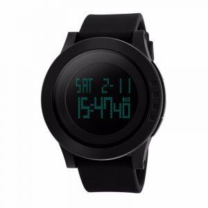 SKMEI 1142 LED Digital Alarm Kronograf Vattentät Herrklockor för män