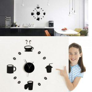 Honana DX-X3 Creative 3D akryl spegel väggklistermärke kvartsklockor titta på stor heminredning