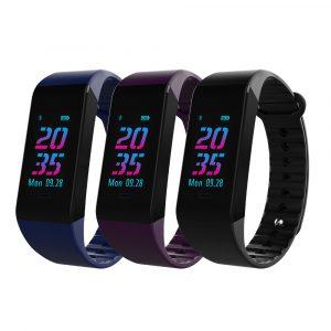 KALOAD W6S Dynamisk hjärtfrekvens Blodtrycksmätare vattentät fjärrkontroll Smart Sports Armband