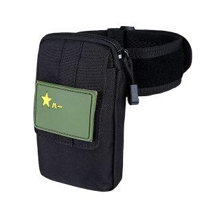 Men Nylon Tactical Arm Bag MOLLE EDC Pouch Mobile Phone Purse Belt Waist Bag