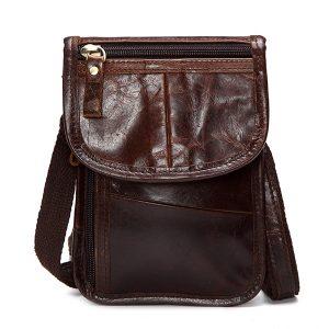 Genuine Leather Cowhide Elegant Waist Bag Phone Bags