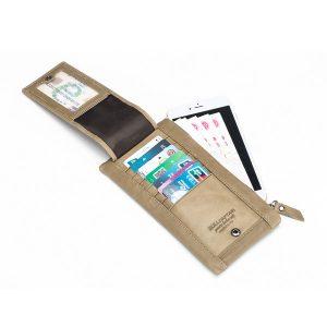 Bullcaptain® Men Genuine Leather 8 Card Slots Wallet Purse