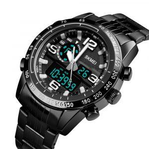 SKMEI 1453 Stål Dual Display Digital Watch