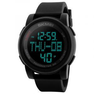 SKMEI 1317 Pedometer LED Countdown Men Sport Digital Watch