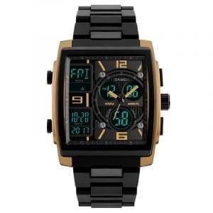 SKMEI 1274 Outdoor Sport Digital Watch PU Band 5ATM Waterproof Chronograph Men Armbandsur