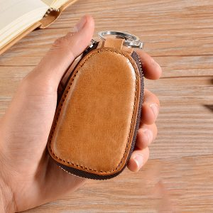 Men Genuine Leather Car Key Case Key Holder