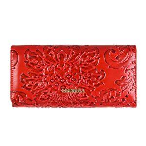 Kvinnor Brenice Vintage Stor kapacitet 5 sedelfack Floral Coin Purse Wallet