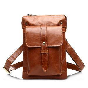 Äkta läder Vintage axelväska kaffe svart brun crossbody väskor