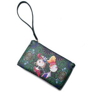 Bohemian Print Portable Long Plånbok för kvinnor