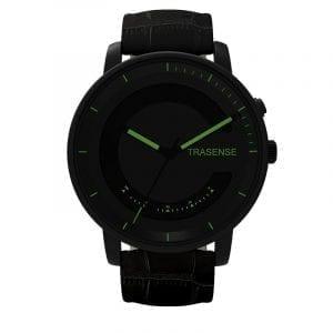 TRASENSE H03-OCH Smart Quartz Watch Läderrem Samtal påminnelse