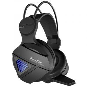 Bakeey NB-G01 trådbundet spelhörlurar RGB LED-ljus Bass Stereo Över-hörlurar med mikrofon för mobiltelefon PC