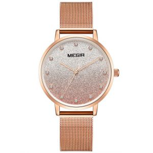 MEGIR 4215 Ultra Thin Simple Mesh Steel Women's Quartz Watch