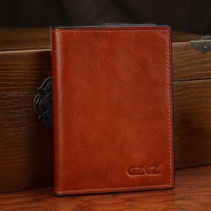 Äkta läder Multi-slots korthållare kort plånbok