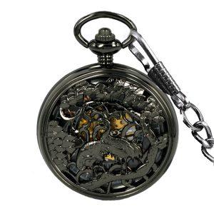 JIJIA JX014 Crane Pattern Hollow Mechanical Quartz Watch