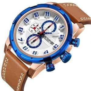 MEGIR 2082 Waterproof Sport Calendar Men Wrist Watch