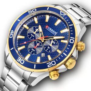 CURREN 8309 Business Style Full Steel Men Wrist Watch