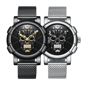 Biden 0086-1 3D Skull Fashion Style Creative Men Armbandsur