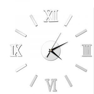 Honana DX-X5 Creative 3D Acrylic Mirror Wall Sticker Quartz Clocks Watch Large Home Decor
