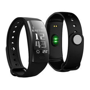 KALOAD QS90 0.96 Inch OLED Heart Rate Blood Pressure Monitor Waterproof Smart Sports Bracelet Watch