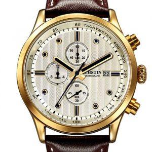 OCHSTIN GQ042B Luxury Men Quartz Watch Fashion Sub-dail Leather Straps Sport Watch