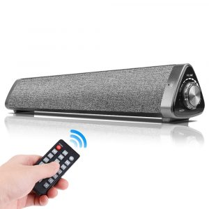 10W Wireless bluetooth 5.0 Speaker Subwoofer Handsfree Soundbar With Remote Control Support TF Card USB-DAC
