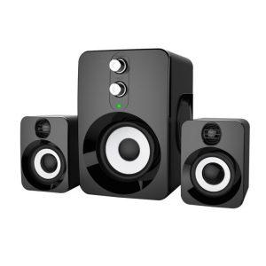 2.1 Stereohögtalare USB 3.5mm Aux Heavy Bass för bärbar dator för bärbar dator