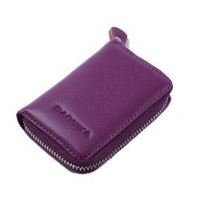 Kvinnor män äkta läder 9 blixtlås korthållare Business ID-kort fall kort plånbok