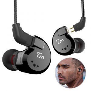 [8 drivrutiner] TRN V80 2BA 2DD Hybridhörlurar HiFi Dual Balanced Armature Dual Dynamic Bass Headphone