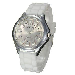Casual Chic Chrysanthemum Silicone Strap Analog Wrist Watch