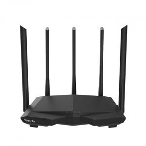 Tenda AC7 1200M Dual-band Wireless WIFI Router 5 * 6dBi Antenner 5G Gigabit Home Täckning APP Control WiFi Repeater