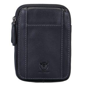 Bullcaptain® äkta läder midje påse Minimalist telefonväska hängande plånbok myntväska Bum väska