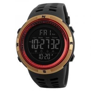 SKMEI 1251 Nedräkning Dubbeltid Digital Chronograph Watch