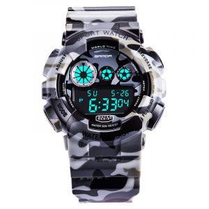 SANDA 289 Camouflage Style Military Men Sport Digital Watch