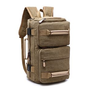 Canvas Backpack Large Capacity Multifunctional Leisure Travel Clutch Bag Crossboby Bag For Men