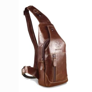 Bullcaptain Bag Herr äkta läder Business Casual Bag