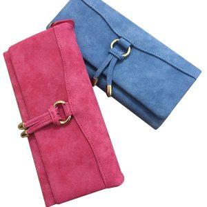 Dragkedja Nubuck Läder Långt plånbok 3-faldigt handväskekortshållare 5.5 '' Fodral Väskor för Iphone