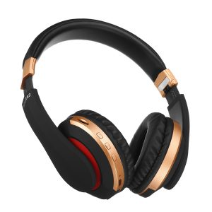 [bluetooth 5.0] Vikbart bärbart trådlöst hörlurar FM-radio TF-kort stereohörlurar med mikrofon