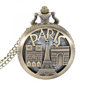 DEFFRUN PARIS European Architecture Quartz Pocket Watch