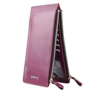 Kvinnligt vaxartat ultratunnt läder med långa handväskor