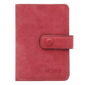 12 kortplatser Kvinnor äkta läder Minimalist Elegant kort plånbok korthållare handväska