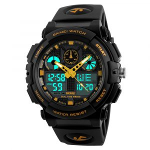 SKMEI 1207 Chorongraph Waterproof Dual Display Digital Watch
