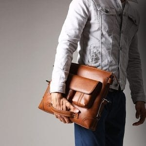 Ekphero Men Casual Briefcase Handbag Multifunction Bag