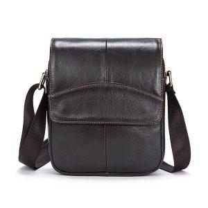 Ekphero® Men Business Genuine Leather Business Messenger Shoulder Bag