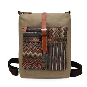 Kvinnor Canvas Multifunktion Vintage Stor kapacitet axelväska Crossbody Bag Ryggsäck