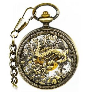 JIJIA JX025 Great Phoenix Mechanical Pocket Watch
